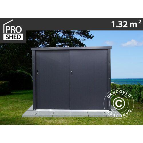 Dancover Geräteschuppen Metallgerätehaus/Metallschrank mit Schiebetür 1,65x0,8x1,31m, Pro