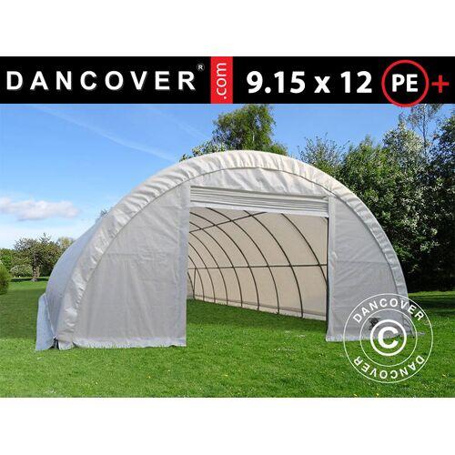 Dancover Rundbogenhalle Lagerzelt 9,15x12x4,5m, PE, weiß