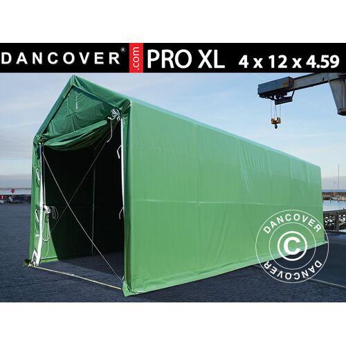 Dancover Lagerzelt PRO XL Bootszelt Zeltgarage Garagenzelt PRO XL 4x12x3,5x4,59m, PVC, Gr