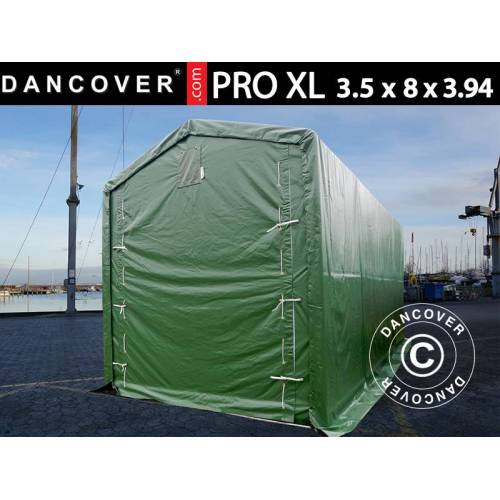 Dancover Lagerzelt PRO XL Bootszelt Zeltgarage Garagenzelt PRO XL 3,5x8x3,3x3,94m, PVC, G