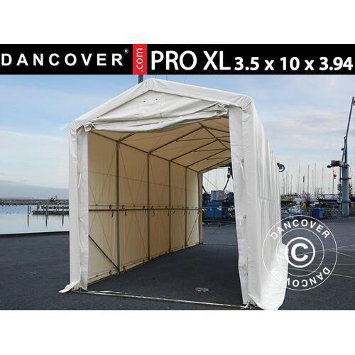 Dancover Lagerzelt PRO XL Bootszelt Zeltgarage Garagenzelt PRO XL 3,5x10x3,3x3,94m, PVC,