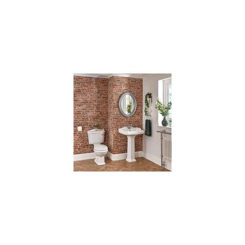 Hudson Reed 1-Loch Säulenwaschbecken und Stand-Toilette Set Nostalgisch - Oxford