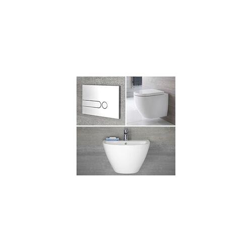 Hudson Reed Wandwaschbecken & Wand-WC Randlos Gäste WC Set inkl. Spülkasten - Ashbury