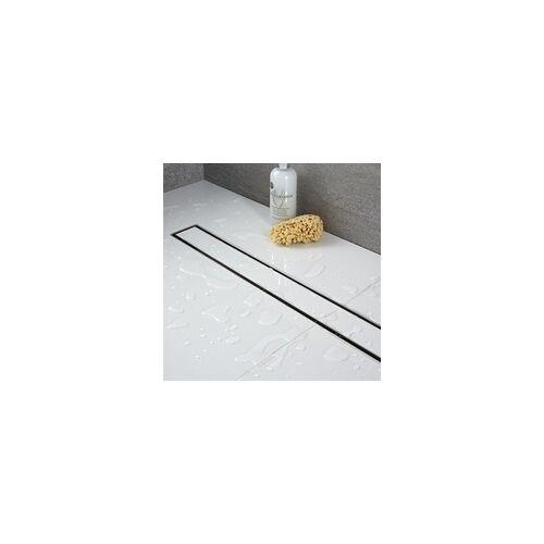 Hudson Reed Linearer Duschablauf aus Edelstahl 400 mm Befliesbar