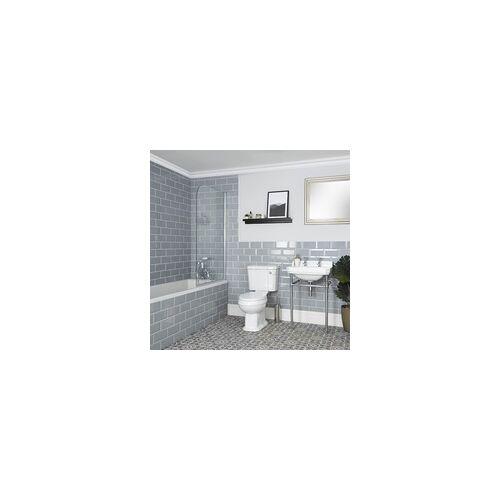 Hudson Reed Bad Set mit Einbau-Badewanne, WC und Stand-Waschbecken - Richmond