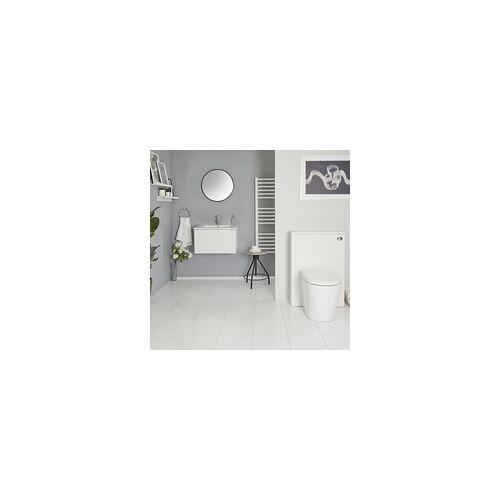 Hudson Reed Newington Waschtisch mit Unterschrank & WC mit Vorwandelement Mattweiß