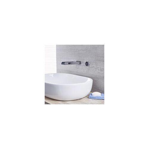 Hudson Reed Wand-Wasserhahn Flach Digital für Waschtisch- oder Badewanne Thermostat Chrom - Parade