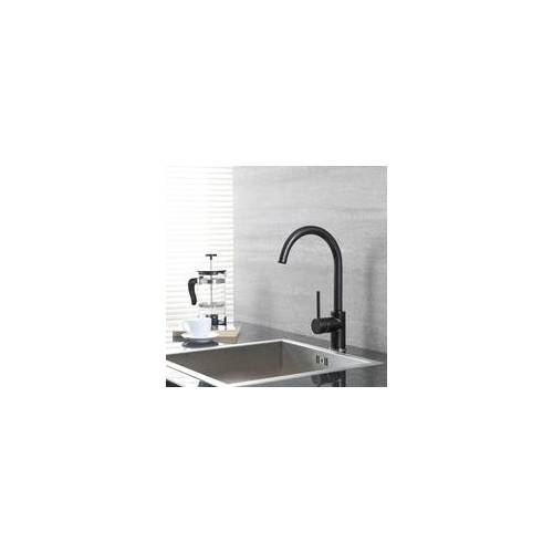 Hudson Reed Schwenkbare Küchenarmatur in Schwarz und Chrom