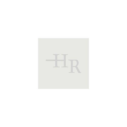 Hudson Reed Wand Waschbecken mit Handtuchhalter eckig, Weiß, Größe wählbar - Sandford