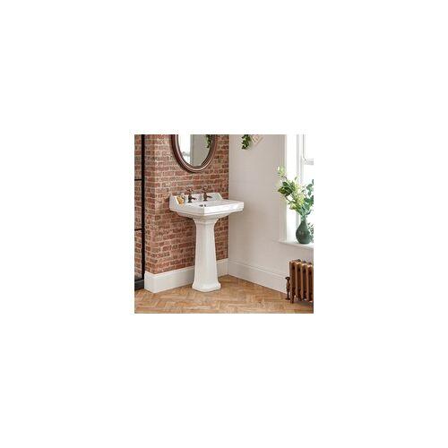 Hudson Reed Standwaschbecken mit Spritzschutz 2-Loch 500mm x 350mm - Richmond