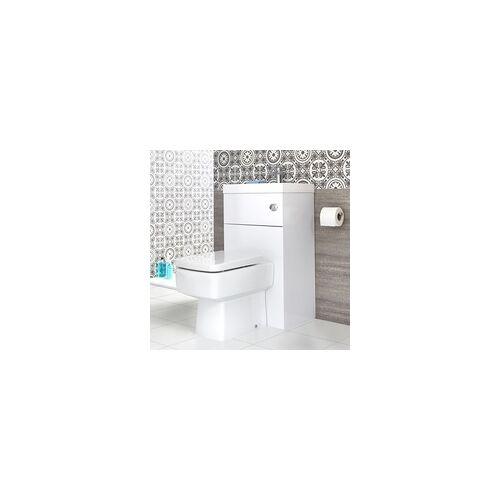 Hudson Reed Eckige Toilette mit Spülkasten und integriertem Waschbecken