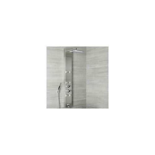 Hudson Reed Duschpaneel Edelstahl Thermostatisch mit Bodyjets Schlauchanschluss - Easton