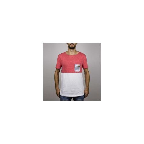 Hydroponic Tshirt HYDROPONIC - Madison Ss Heather Red-White (HEATHER RED-WHITE ) Größe: M