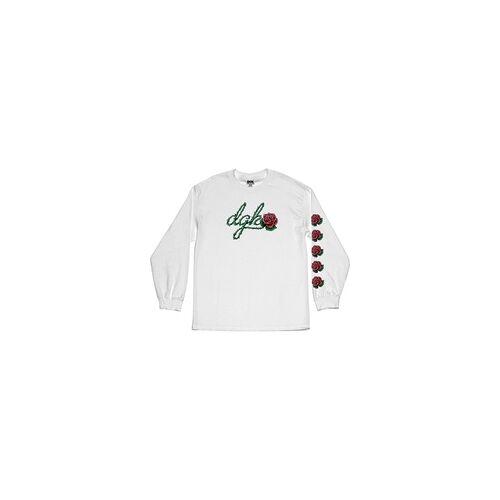 DGK Tshirt DGK - Bloom L/S Tee White (WHITE)