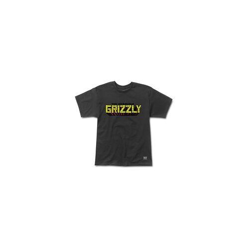 GRIZZLY Tshirt GRIZZLY - Grizzly X Hulk Brick Black (BLACK) Größe: S