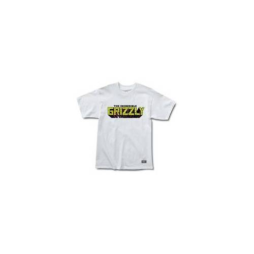 GRIZZLY Tshirt GRIZZLY - Grizzly X Hulk Brick White (WHITE) Größe: S