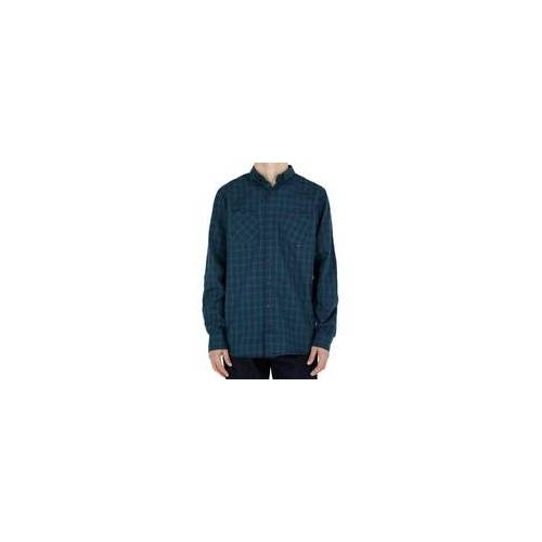 REELL Hemd REELL - Faded Shirt AW18 Green/Navy (GREEN-NAVY)