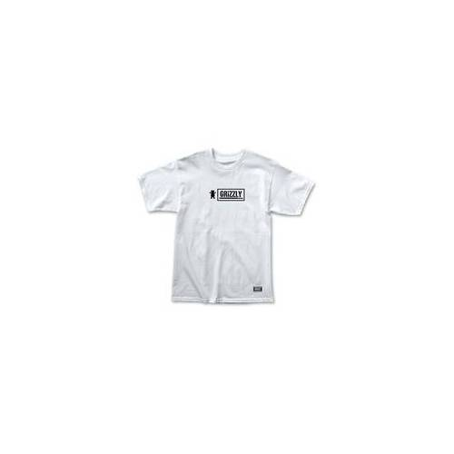 GRIZZLY Tshirt GRIZZLY - Fire Skull Ss Tee Wht (WHT)