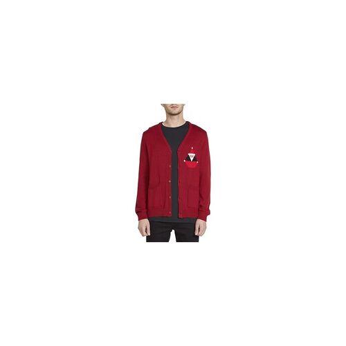 Volcom Pullover VOLCOM - Santastone Cardigan Deep Red (DRE) Größe: L