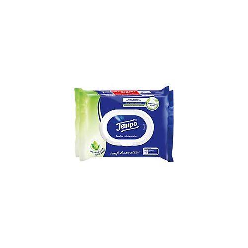 Tempo Feuchtes Toilettenpapier Aloe Vera 2 Stück à 42 Blatt