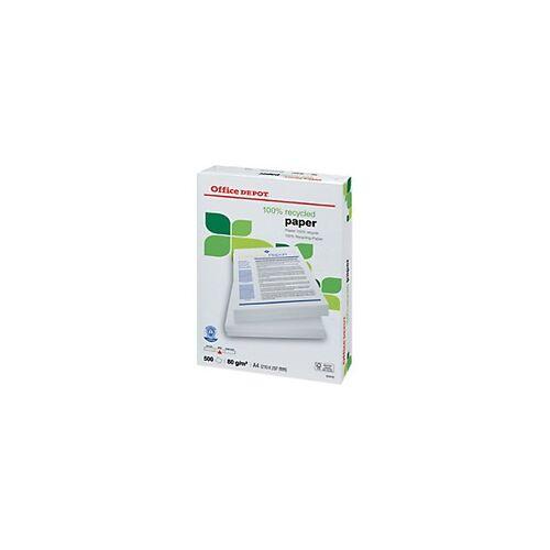 Office Depot 100% Recycling Kopier-/ Druckerpapier DIN A4 80 g/m² 500 Blatt