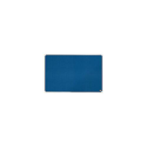 Nobo Pinnwand Premium Plus Filz Blau 90 x 60 cm
