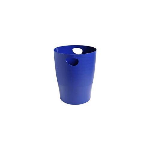 Office Depot Papierkorb Blau 26,3 x 26,3 x 33,5 cm