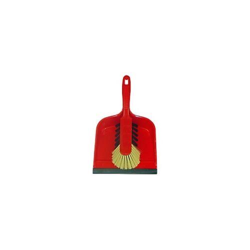 BETRA Handfeger und Kehrschaufel 21,5 x 33 x 10,5 cm Rot 2 Stück