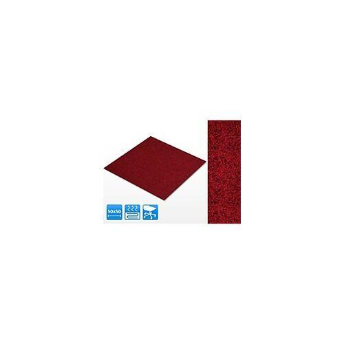 casa pura Teppichfliese Casa Pura Jazz Rot Polypropylen 500 x 500 mm