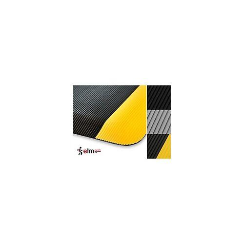 etm Arbeitsmatte Heavy-Duty Ripp PVC, Vinyl Grau 900 x 1500 mm