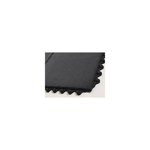 etm Bodenschutzmatte Gummi Schwarz 920 x 920 mm