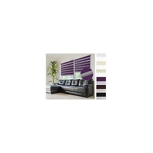 Casa Pura Sichtschutzrollo Mini Day & Night Polyester, Aluminium Lila 450 x 1500 mm