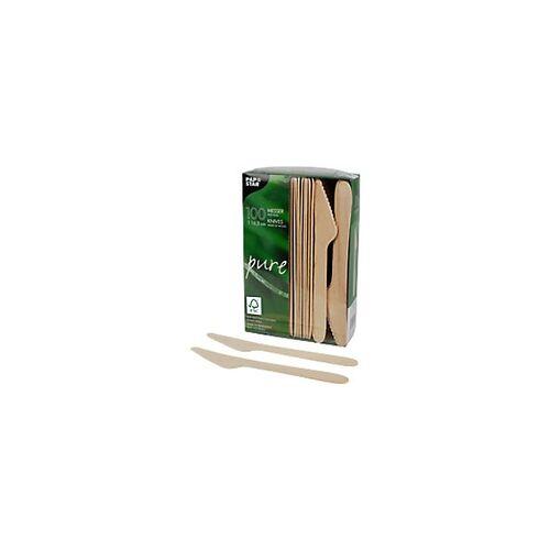 PAPSTAR Messer Pure Braun 100 Stück
