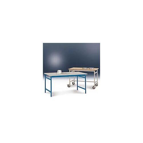 Manuflex Beistelltisch Kunststoff Hellgrau 1.500 x 600 x 780 mm