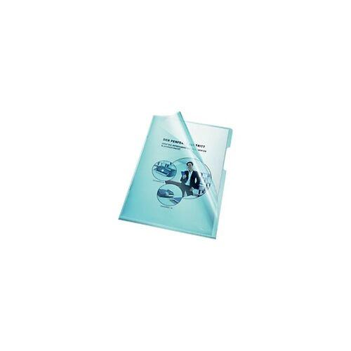 Bene Prospekthüllen DIN A4 Blau Polypropylen 100 Stück