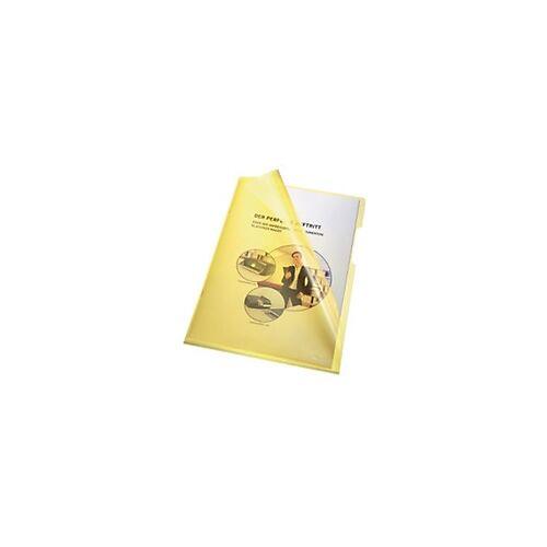 Bene Prospekthüllen DIN A4 Gelb Polypropylen 100 Stück