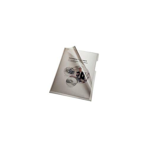 Bene Prospekthüllen DIN A4 Grau Polypropylen 100 Stück