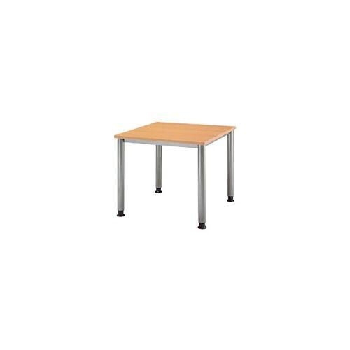 Hammerbacher Schreibtisch Buche 800 x 800 x 760 x 680 - 760 mm