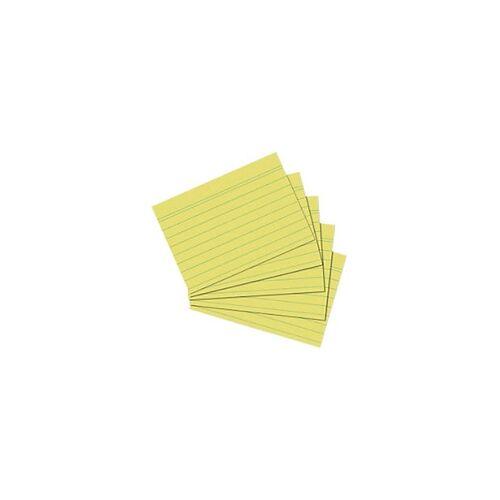 herlitz Karteikarten DIN A5 100 Karten Gelb 21 x 14,8 cm 100 Stück