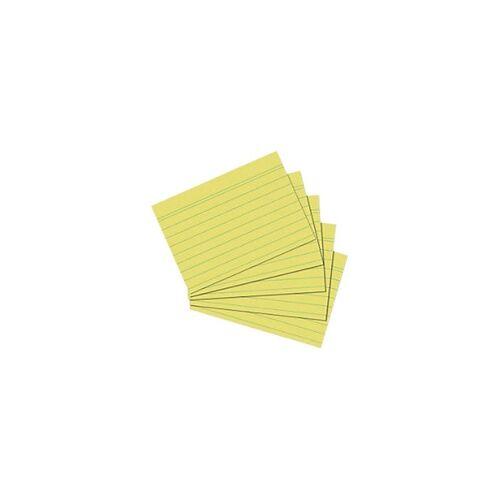herlitz Karteikarten DIN A6 100 Karten Gelb 14,8 x 10,5 cm 100 Stück