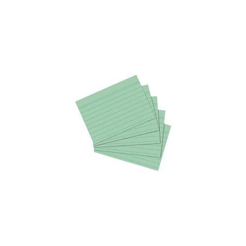 herlitz Karteikarten DIN A6 100 Karten Grün 14,8 x 10,5 cm 100 Stück