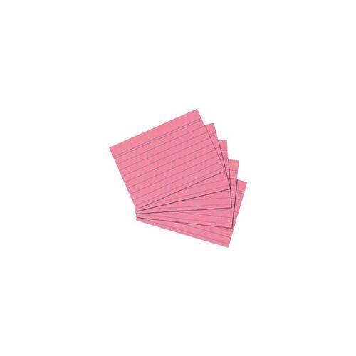 herlitz Karteikarten DIN A6 100 Karten Rot 14,8 x 10,5 cm 100 Stück