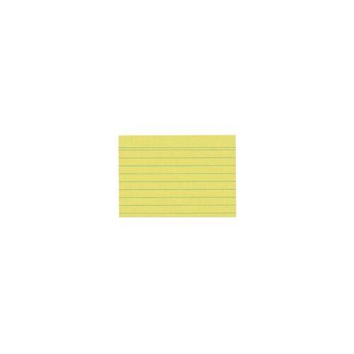 herlitz Karteikarten DIN A7 100 Karten Gelb 10,5 x 7,4 cm 100 Stück