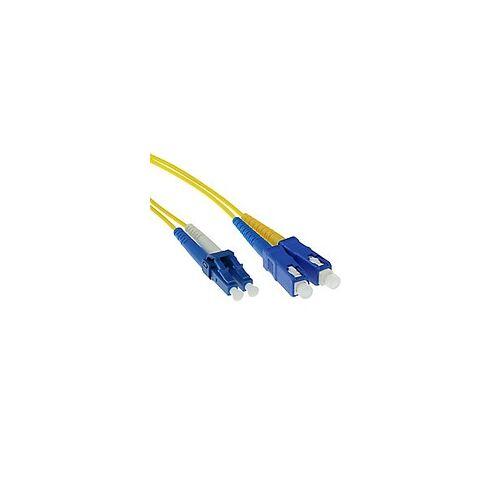 ACT 10 M LSZH Singlemode 9/125 OS2 Fiber Patchkabel Duplex mit LC und SC Steckern