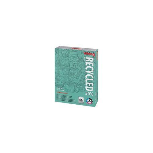 Viking 50% Recycling Kopier-/ Druckerpapier DIN A4 80 g/m² Weiß 161 CIE 500 Blatt