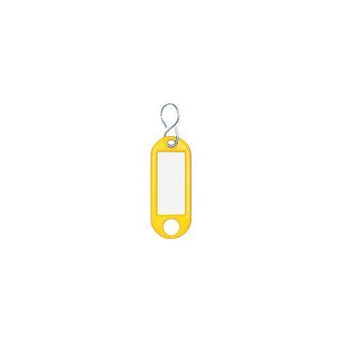 WEDO Schlüsselanhänger Gelb 10 Stück