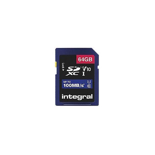 Integral SDXC Flash-Speicherkarte V10 64 GB