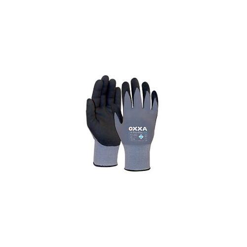 Oxxa Handschuhe X-Pro-Flex Air Polyurethan Größe M Schwarz, Grau 2 Stück