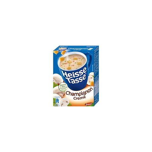 Heisse Tasse Suppe Pilzcreme 3 Stück