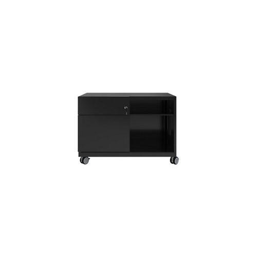 Bisley Rollcontainer Caddy Schublade links Schwarz 800 x 490 x 563 mm